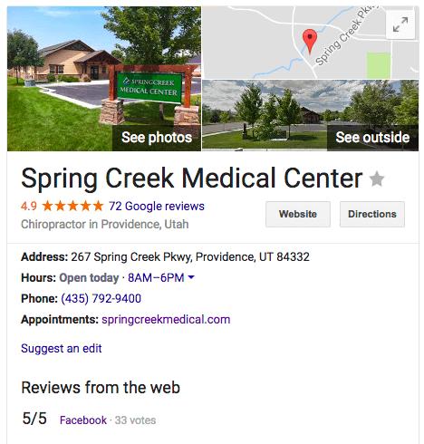 spring creek medical google plus screenshot